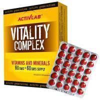ActivLab Vitality Complex to zestaw witamin i minerałów zapewniający ich właściwy poziom w okresie intensywnych treningów. Produkt polecany sportowcom w okresie wzmożonej aktywności fizycznej.