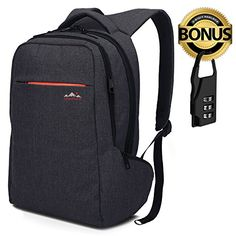 820324c34acf MaxPoint inch Tear Water Resistant Slim Laptop Backpack for Men and Woman   Backpack  Laptop with Anti-theft Zipper for your safety   Backpack for School and ...