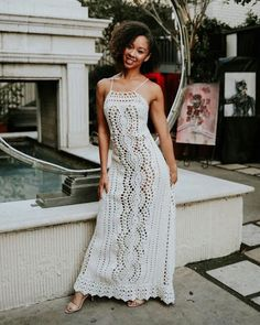 Skirt pattern maxi dress tutorials 42 New Ideas Crochet Wedding Dresses, Crochet Summer Dresses, Summer Dress Patterns, Black Crochet Dress, Knit Dress, Crochet Woman, Knit Crochet, New Designer Dresses, Special Dresses