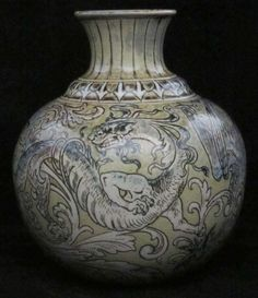 Martin Brothers Vase decorated with 3 Dragons
