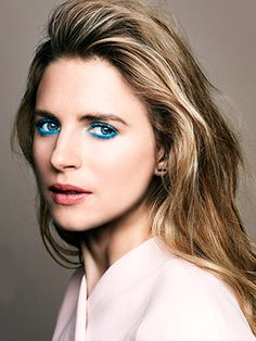 Brit Marling Makes Us Want To Wear Electric Blue Eyeliner, Stat #Refinery29
