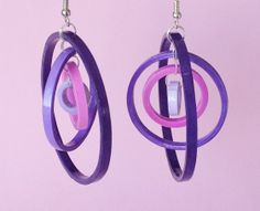 Quilled paper earrings by yesterday s news today s accessories