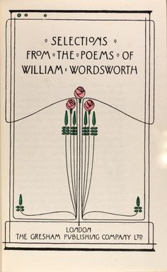 Selection from the poems of William Wordsworth  decorative art nouveau title page design by Talwin Morris c1905
