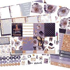 Medianoche, kit de año nuevo, año nuevo, juego de pegatinas, pegatinas de planificador, CE vertical,