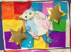 Possum Magic, Mem Fox- crepe paper collage and watercolour. Australian Bush, Australian Animals, Magic Crafts, Arts And Crafts, Mem Fox Books, Possum Magic, Kindergarten Art Lessons, Magic Party, Author Studies