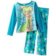 Disney Fairies Tinker Bell Fleece Pajama Set - Girls ($18) ❤ liked on Polyvore