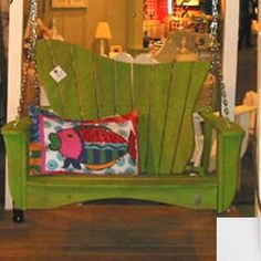 (CLICK IMAGE TWICE FOR PRICING AND INFO) #porch #swing #swings #furniture #deck #porchswing #porchswings #outdoor #outdoorfurniture #patio - SEE MORE Patio Swings at zPatioFurniture.com - Uwharrie Chair 7052 Wave Swing – LSF or RSF – White « zPatioFurniture.com Patio Lounge Chairs, Patio Swing, Porch Swings, Repurposed Wood, Screened In Porch, Fun Projects, Project Ideas, Outdoor Furniture, Outdoor Decor