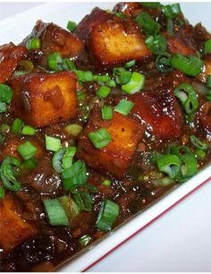 chili paneer. The sauce was wonderful, but I found out I am not a big fan of paneer. I'll make it with tofu next time.