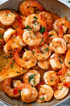 Garlic Butter Shrimp - - This quick and easy garlic butter shrimp recipe is an amazing flavor combination of garlicky, buttery goodness. - by pasta rezept healthy pasta recipes Buttered Shrimp Recipe, Cooked Shrimp Recipes, Best Shrimp Recipes, Garlic Butter Shrimp, Shrimp Recipes For Dinner, Seafood Dinner, Fish Recipes, Seafood Recipes, Cooking Recipes