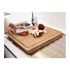 APTITLIG Butcher block IKEA The chopping board collects food juice in the milled groove and prevents it from spilling on to your countertop....$15