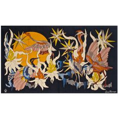 Fantasy French Tapestry 1970s Jane Larroque | 1stdibs.com