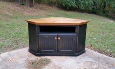 Rustic Handcrafted Corner TV Cabinet. Great by RusticReproductions