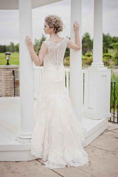 Lace wedding dress with beaded back detail - 10 Bridal Looks We Love   WeddingDay Magazine