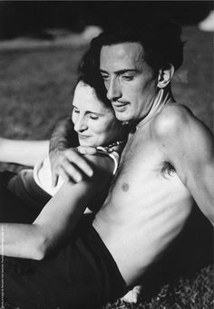 "Dalí & Gala. Ok. so not your typical kind of ""beautiful"" but this is a lovely picture of extraordinary people :)"