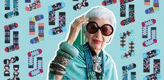 Happy Socks, Round Sunglasses, Fashion, Iris Apfel, Moda, Round Frame Sunglasses, Fashion Styles, Fashion Illustrations