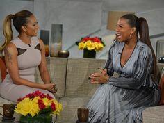 Mel B and Queen Latifah hang on The Queen Latifah Show