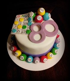 Bingo cake, casino cakes, dad cake, dress cake, cake decorating sup 80 Birthday Cake, Birthday Poems, 70th Birthday Parties, Cupcakes, Cupcake Cakes, Cake Pops, Bingo Cake, Cake Aux Raisins, Slot Machine Cake