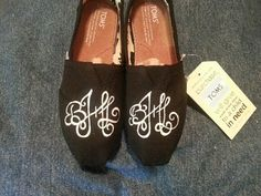 Women's monogrammed TOMS by ThePaintedChild on Etsy, $85.00