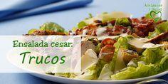 Aprende a preparar una ensalada cesar fresca y saludable #Tips #Cocinar #Comida #light