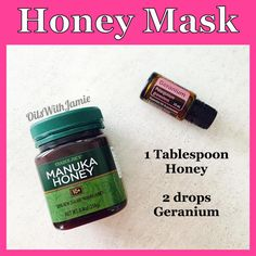 Washing your face with honey is great for acne control and keeps the skin super soft. Make a mask with raw honey and Geranium. Manuka Honey is great because it is full of antioxidants and is amazing for the skin. Geranium controls oil production, reduces breakouts and helps to improve skin tone and wrinkles. Other great oils to try are Lavender, Frankincense, Myrrh, Melaleuca, or Patchouli. Leave the mask on for about 10 minutes and then rinse off. Use 3 times a week.
