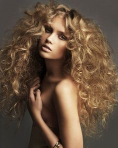 Long sensual curls with tremendous volume