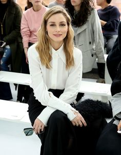 Olivia Palermo Photos Photos - Olivia Palermo attends Delpozo during New York Fashion Week at Pier 59 Studios on February 15, 2017 in New York City. - Delpozo - Front Row - February 2017 - New York Fashion Week