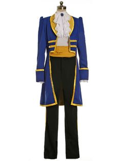 DELUXE Mens Royal Prince Charming BEAST Fancy Dress Costume S - XL
