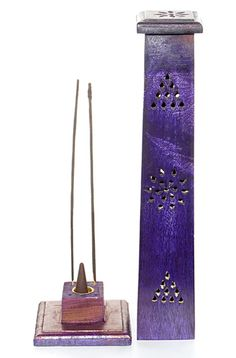 My purple tower incense burner.