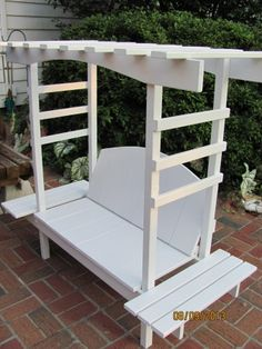 Child's Bench with Arbor | Do It Yourself Home Projects from Ana White