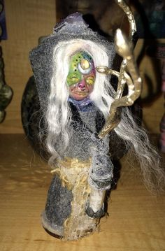 Spirit Doll Crystal Devi Doll Totem Doll Elder by ArtInSoulorg