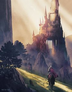 67 Fantasy and Medieval Buildings Cities & Castles Concept Art to Inspire You Homesthetics Inspiring ideas for your home Fantasy castle Concept art Castle illustration