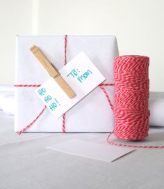 DIY Creative Gift Wrapping Ideas | Baker's Twine and a clothes pin