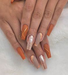Best acrylic coffin nails art designs for you that is best for fall; - Best acrylic coffin nails art designs for you that is best for fall; Best acrylic coffin nails art designs for you that is best for fall; Matte Nail Art, Fall Acrylic Nails, Nail Art Toes, Halloween Acrylic Nails, Shellac Nail Art, Coffin Nails Matte, Nagel Tattoo, Fall Nail Art Designs, Orange Nail Designs