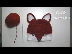 TUTO CROCHET Comment faire un Bonnet Renard 4 à 6 ans, My Crafts and DIY Projects