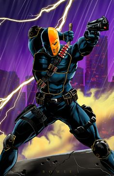 """Mr.+Deathstroke+himself!+    All+prints+are+11""""x17""""+unless+otherwise+specified.    *All+art+is+owned+and+copyrighted+by+Damon+Bowie+and+Intense+Yellow+Productions.+Any+unauthorized+usage+of+images+without+consent+is+prohibited."""