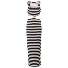 Camilla Monochrome Striped Knot Maxi Dress ($29) ❤ liked on Polyvore