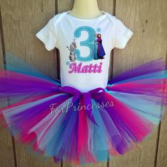 Frozen birthday outfit frozen tutu set elsa by ForPrincesses