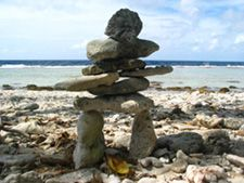 Inukshuk - representing a Safe Journey through Life's Travels. One of these days, I'm building one of these in my back yard. Safe Journey, Cairns, Garden Art, Rock And Roll, Beautiful Things, Garden Sculpture, Rocks, Stones, Backyard