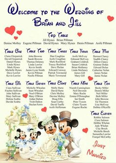 Disney themed wedding ideas Wedding celebration blog