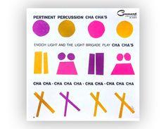 """Gerry Olin record album design, 1960. Enoch Light """"Pertinent Percussion Cha Cha's""""via Etsy."""