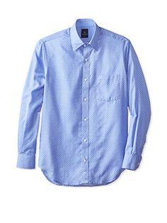 TailorByrd Men's Flathead Long Sleeve Woven Sportshirt (Royal)