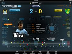 Manchester City FC Second Screen App iPad by David Hampshire, via Behance