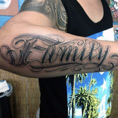 Gorgeous Black Family Tattoo Male Forearms