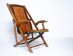 Late Victorian Campaign Style Folding Chair by Heal & Son London | jasonclarkeltd - Antique Vintage Decor