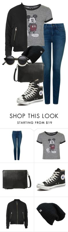 """Untitled #1745"" by itsmeischoice on Polyvore featuring NYDJ, Topshop, MANGO and Converse"