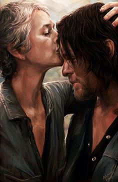"""Wow stunning artwork of Daryl And Carol The Walking Dead"""