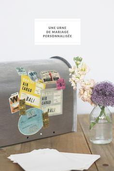 urne voyage en forme de bo te aux lettres urne mariage urna voyage urne personnalis e urne. Black Bedroom Furniture Sets. Home Design Ideas