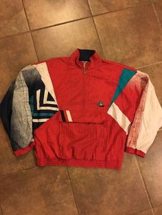 Vintage Le Coq Sportif Nylon Windbreaker Track Jacket Spellout  be29db0a4d6