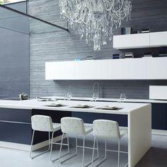 luxurious kitchen #glamour #crystal #swarovski #chandelier