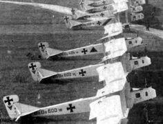 Strategic Bombers 1916 Style! Gotha G-IV based in Belgium ready to bomb London.